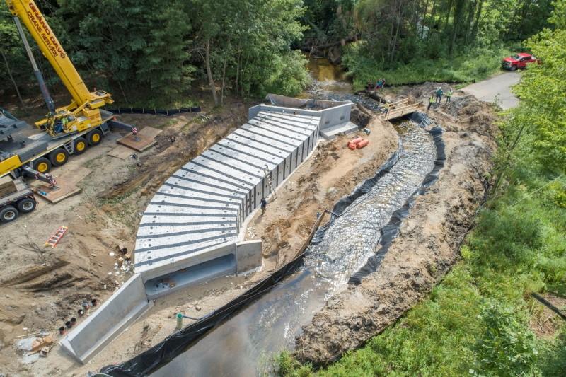 Calhoun County Halbert Road  20' x 5' Snake-Shaped Box Culvert