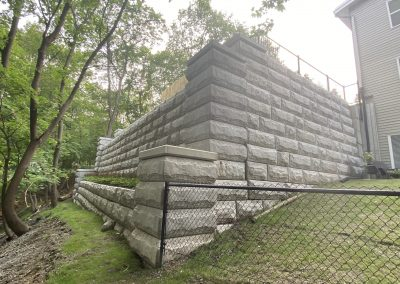 Ithaca Neighborhood Housing Services Two-Tier Retaining Wall